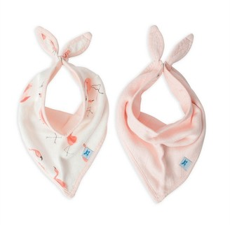Little Unicorn Deluxe Bandana Bib 2 Pack Pink Ladies Set