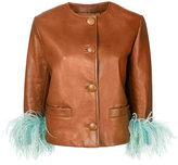 Prada contrast cuff jacket