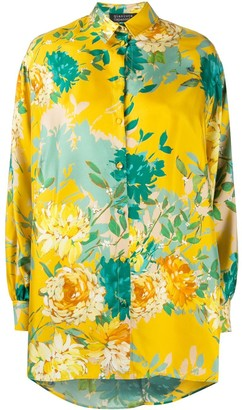 Gianluca Capannolo Silk Floral Oversized Blouse