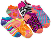 JCPenney Total Girl 6-pk. Animal No-Show Socks - Girls