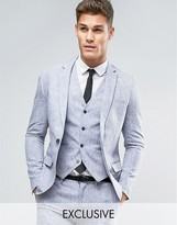 ONLY & SONS Skinny Suit Jacket In Linen