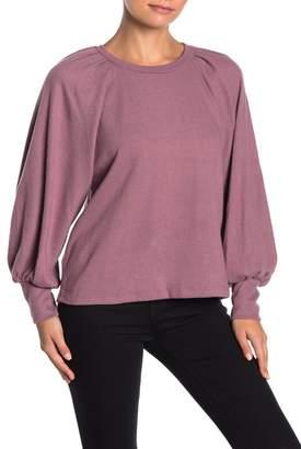 Lush Blouson Sleeve Solid Top