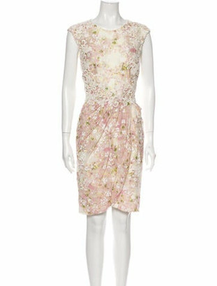 Giambattista Valli Printed Knee-Length Dress Pink