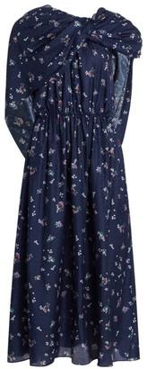 Magda Butrym Getafe Silk & Wool Wrapped Dress