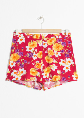 And other stories Floral Print Shorts
