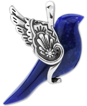 American West Sodalite Bird Pendant in Sterling Silver