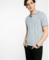 Express marled short sleeve sweater polo