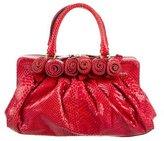 Valentino Snakeskin Rosette Bag