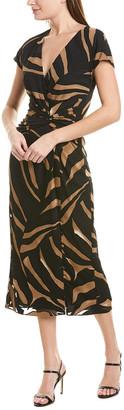 Prabal Gurung Jacqueline Silk-Lined Midi Dress