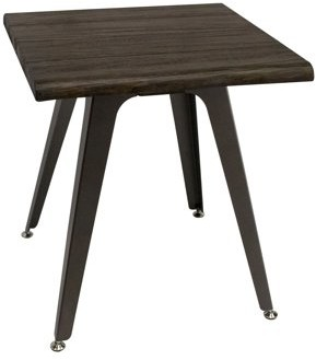 Best Master Furniture Antique Brown Mid Century End Table