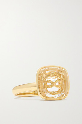 Foundrae Wholeness 18-karat Gold Quartz Ring