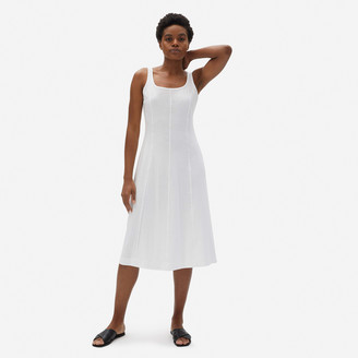 Everlane The Luxe Cotton Seamed Tank Dress