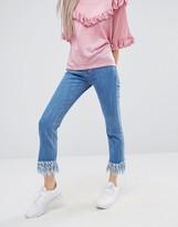 STYLE NANDA STYLENANDA Extreme Fray Hem Jeans