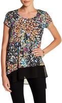 Karen Kane Asymmetric Sheer Hem Shirt