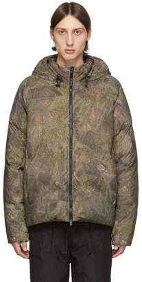 Alyx Green Down Camouflage Hooded Puffer Jacket