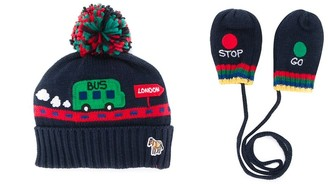 Paul Smith embroidered hat and mittens