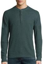 ST. JOHN'S BAY St. John's Bay Long-Sleeve Thermal Henley Shirt