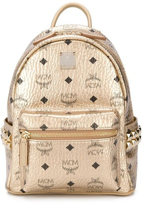 MCM All Over Logo Print Mini Backpack