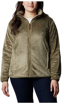 Columbia Plus Size Fire Side II Sherpa Full Zip (Dark Nocturnal) Women's Coat
