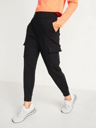 Old Navy High-Waisted Dynamic Fleece Cargo Jogger Sweatpants for Women