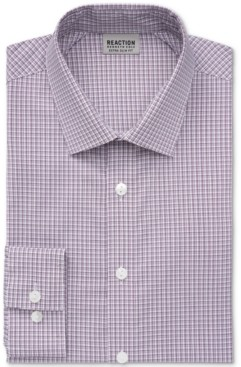 Kenneth Cole Reaction Men's Stay Crisp Extra-Slim Fit Performance Stretch Check Dress Shirt