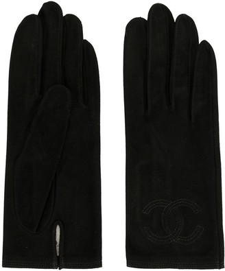 Chanel Pre Owned CC logo gloves