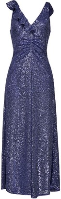 Pinko Ruffle-Detail Sequinned Dress