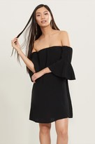 Dynamite Off-The-Shoulder Bell Sleeve Dress