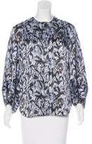 Christian Dior Printed Button-Up Top