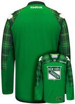 Reebok Men's New York Rangers Saint Patrick's Day Tartan Plaid Jersey