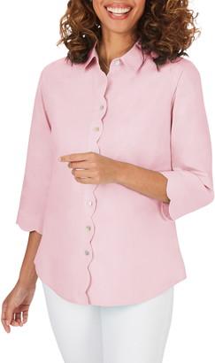 Foxcroft Lily Scallop Detail Non-Iron Shirt