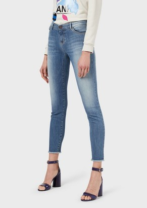 Emporio Armani J23 Vintage-Wash, Push-Up Denim Jeans