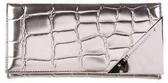 Alexander McQueen Metallic Embossed Leather Wallet