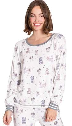 PJ Salvage Pawfection Peachy Jersey Top - Extra Small