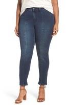 Melissa McCarthy Plus Size Women's Zip Detail Stretch Pencil Jeans