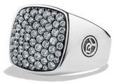 David Yurman Pave Gray Sapphire Signet Ring