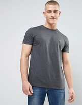 Lacoste Small Logo T-Shirt Regular Fit Pima Jersey in Dark Gray Marl