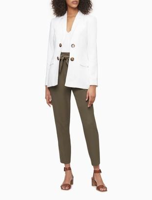 Calvin Klein Linen Blend Double Breasted Jacket