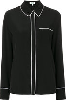 Kenzo concealed button blouse