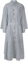Rachel Comey Grey & White Striped Braden Shirt Dress