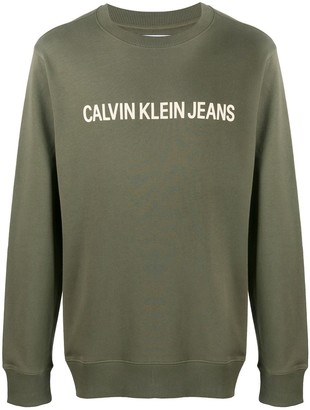Calvin Klein Jeans Long Sleeve Logo Sweater
