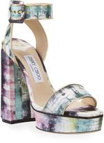 Jimmy Choo Jax Tie Dye Platform Sandals