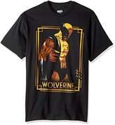 Marvel Men's Wolverine Classic Character Gold Framed T-Shirt