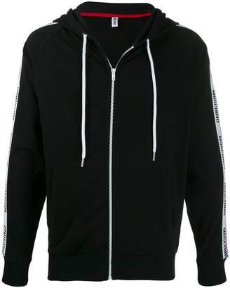 Moschino logo tape zipped hoodie