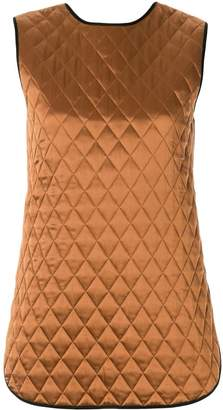 Lee Mathews quilted sleeveless top