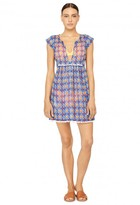 Milly Cabana Mosaic Print Pom Pom Cover-Up