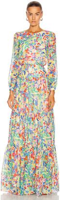 Saloni Isabel Long Dress in Summer Confetti | FWRD