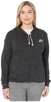 Nike Plus Size NSW Gym Vintage Hoodie Full Zip (Black/Sail) Women's Sweatshirt