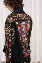 French Connection Mazie Floral Hand-Embroidered Denim Jacket