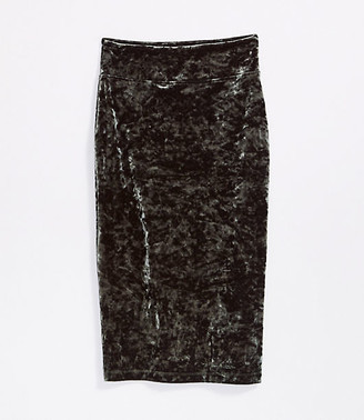 LOFT Lou & Grey Velour Midi Skirt